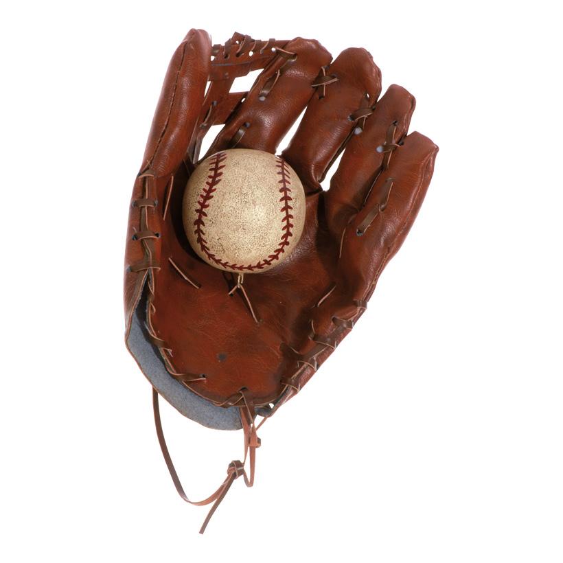 # Deko-Baseballhandschuh 25x20cm, mit Ball, Kunstleder, Ball Ø8cm