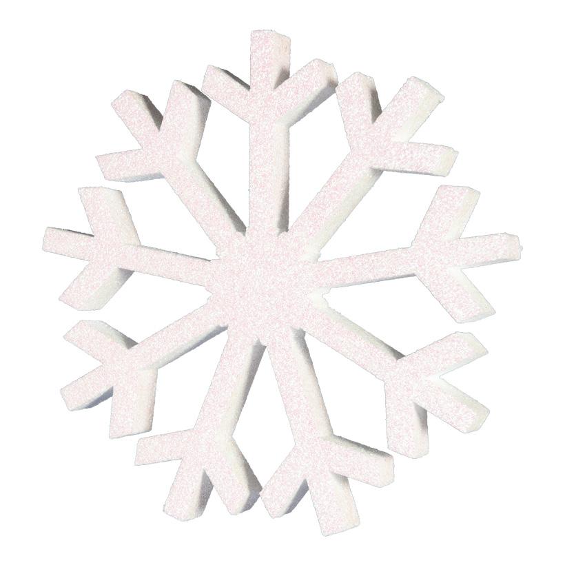 Schneeflocke Ø 30cm beglittert, mit Hänger, aus Styropor