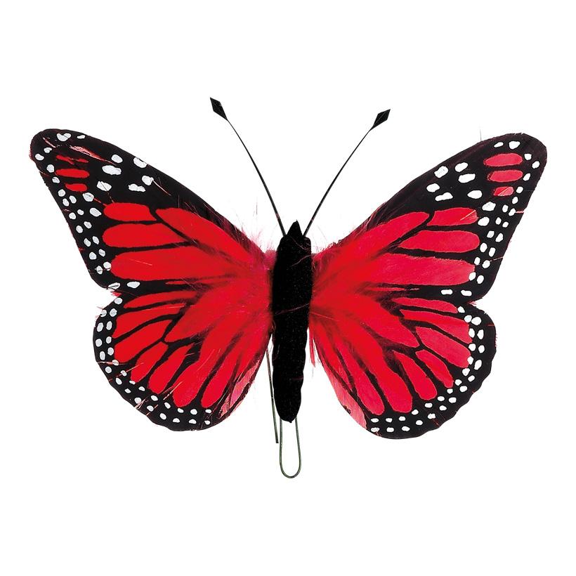 # Schmetterling 13x20 cm Federn