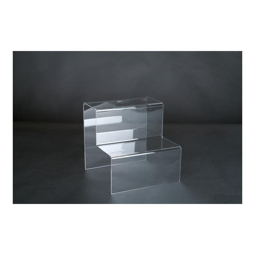 # Acryl-Dekotreppe, 20x20x20cm 2-fach, als Warenpräsenter