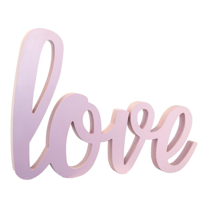 Love-Schriftzug, 60x40cm selbststehend, aus Holz