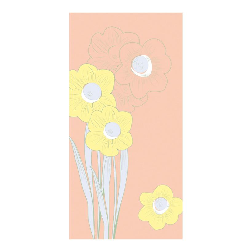 "# Motivdruck ""Blüten in Pastell"", 180x90cm Papier"