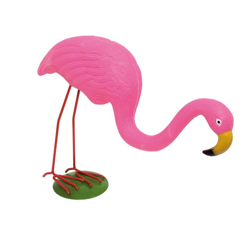 Flamingo 40x33cm, Kopf gesenkt, Kunststoff