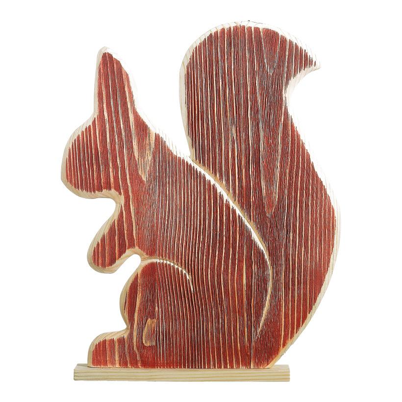 # Eichhörnchen aus Holz, 33x26cm mit Standfuß