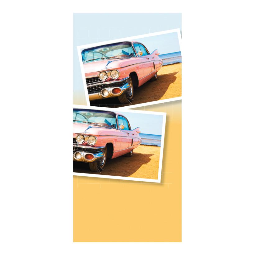 "# Motivdruck ""Cadillac"", 180x90cm Papier"