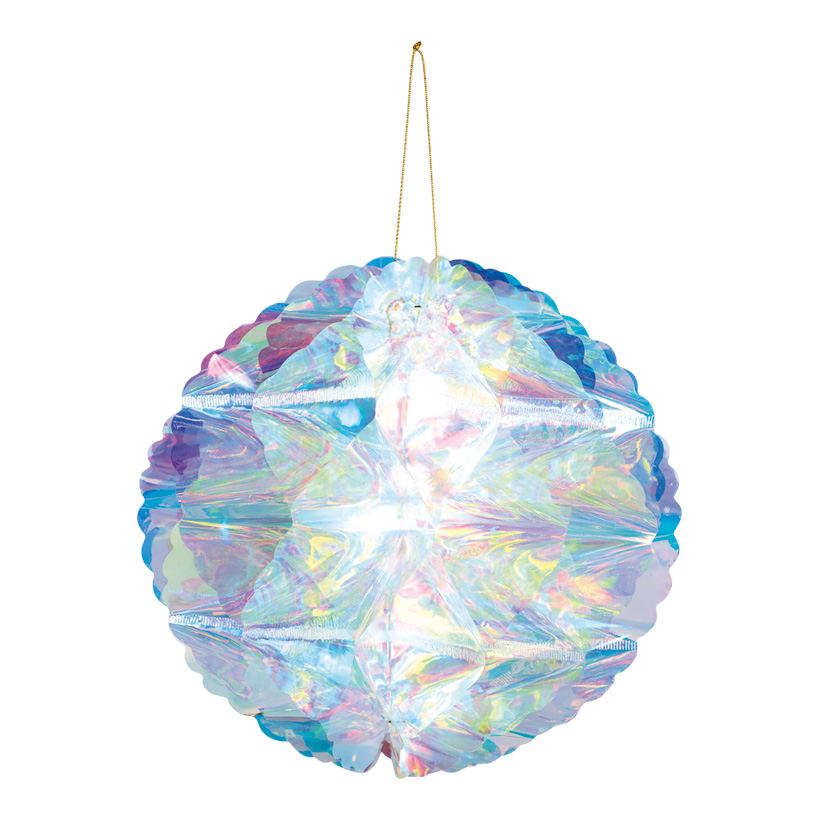 Wabenball, Ø 20cm faltbar, mit Hänger, holografisch