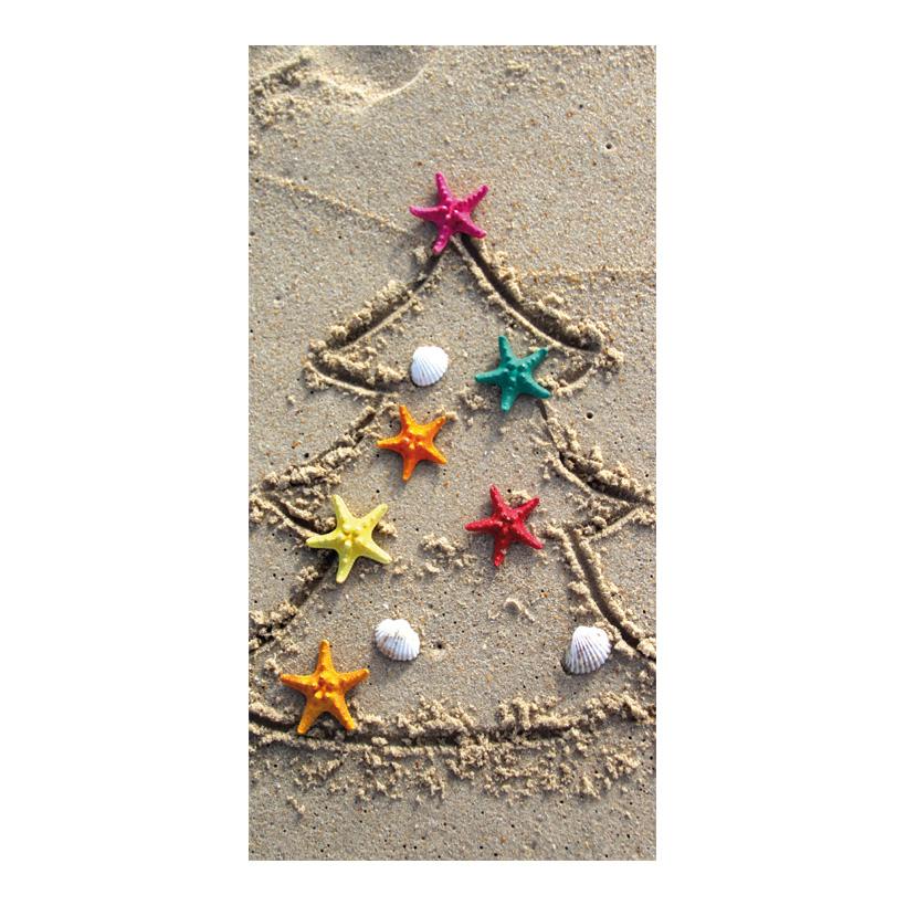 "# Motivdruck ""Christmas on the beach"", 180x90cm Papier"