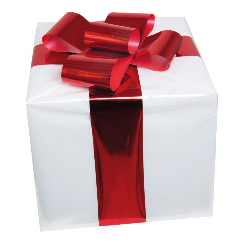 Geschenkpäckchen, 15x15cm, mit Folienschleife, Styropor