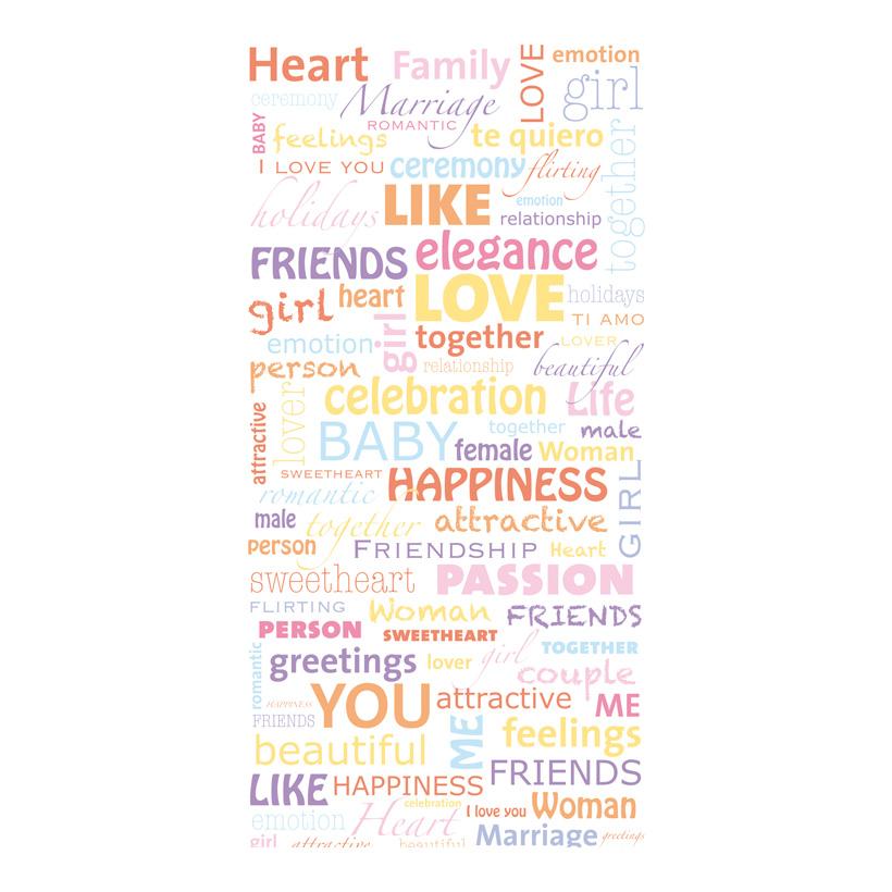 "# Motivdruck ""Love Letters"", 180x90cm Stoff"