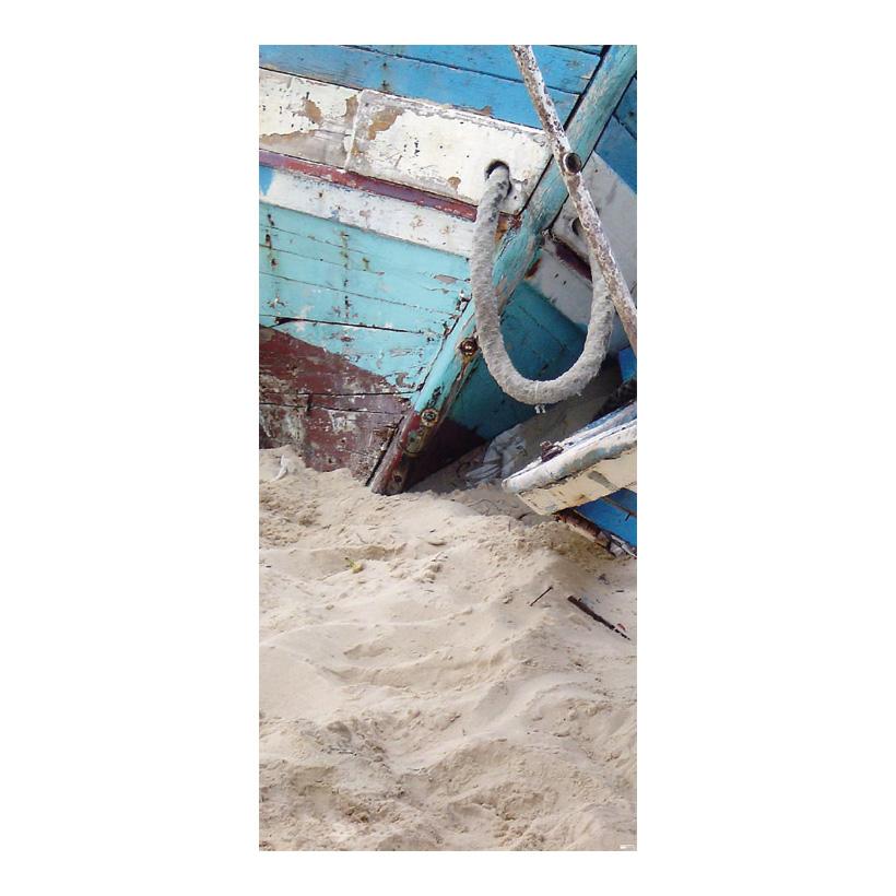 """# Motivdruck """"Fischerboote"""", 180x90cm Stoff"""