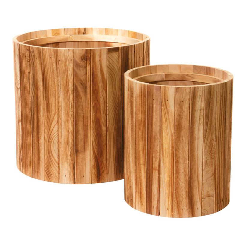 # Übertopf 40x42/35x30 cm Holz, 2 Stck./Satz