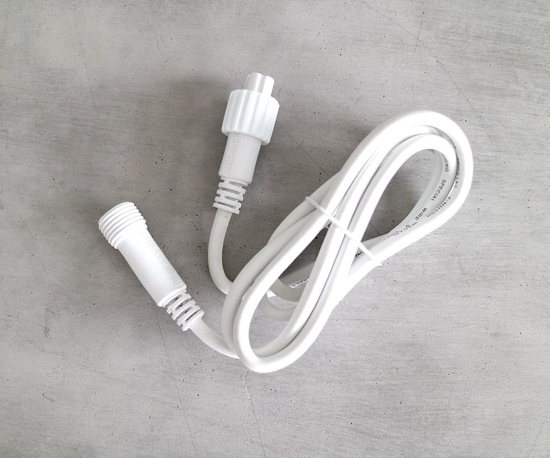 # LED Verlängerungskabel, 150cm Verlängerunskabel aus Gummi für Lichterketten, IP44, für Innen- & Außenbereich, ohne Stecker