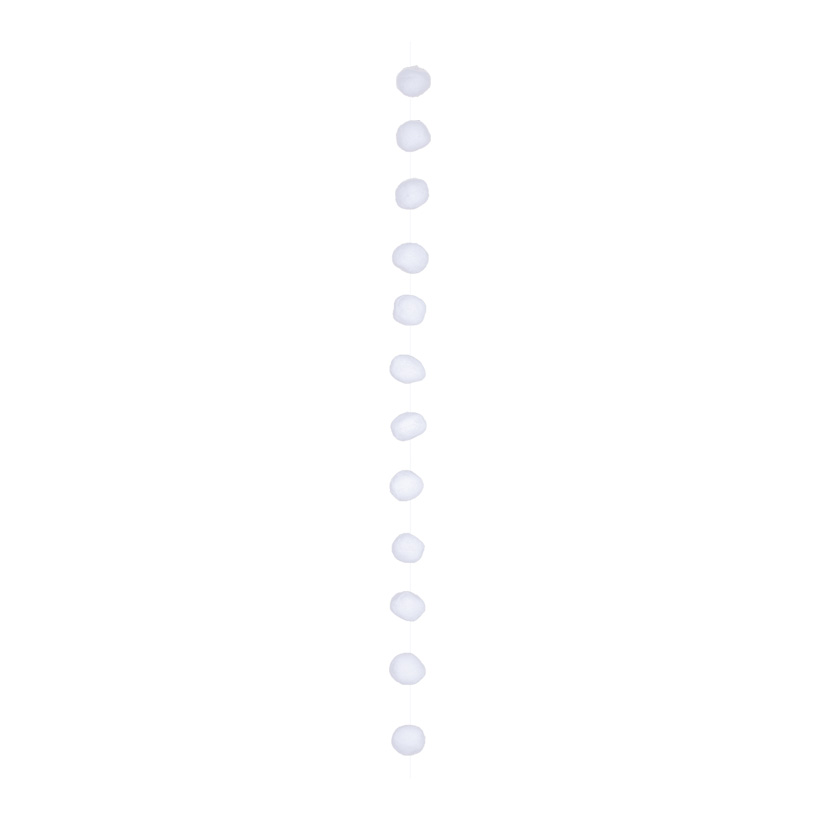 Schneeballkette, 180cm Ø8cm mit 12 Kugeln, aus Vlies