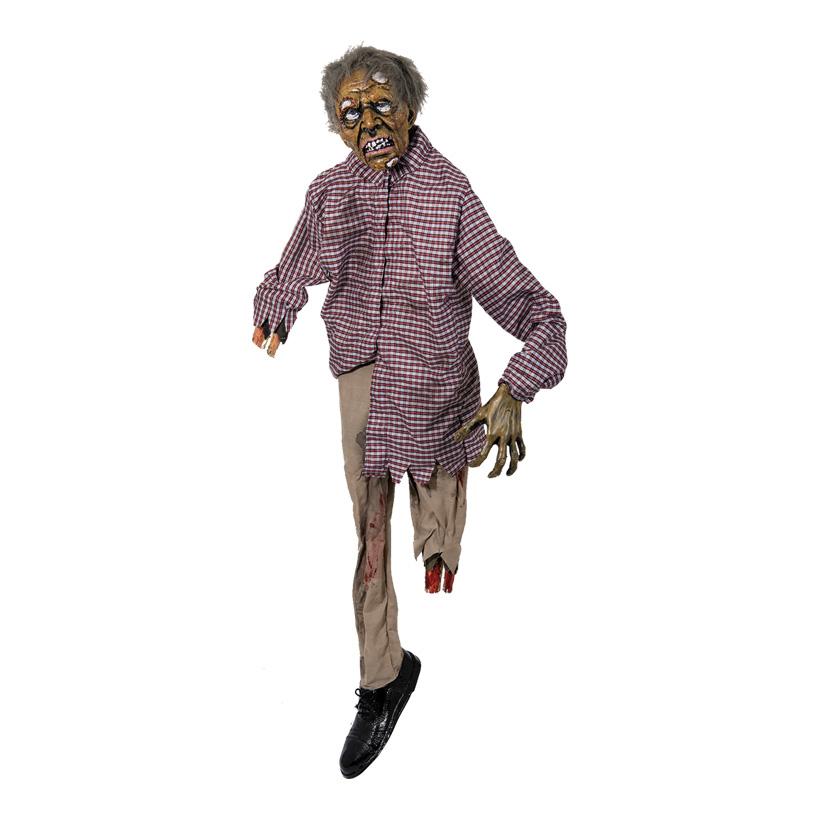 Zombie, 160x50cm, mit Licht- und Soundfunktion, Kunststoff/Textil