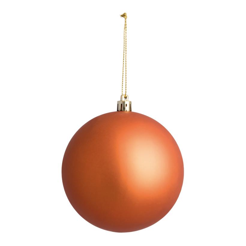 Weihnachtskugel, mattkupfer, Ø 10cm, nahtlos, matt