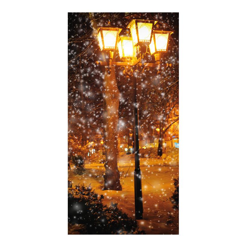 """# Motivdruck """"Allee im Schneetreiben"""", 180x90cm Papier"""