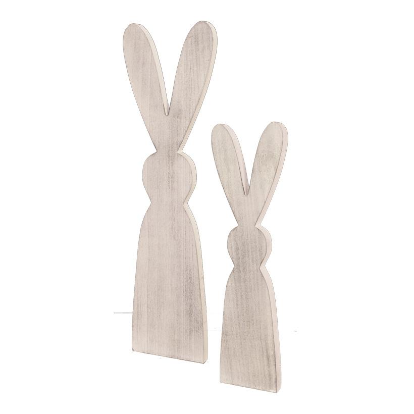 Hasenkonturen, 60x22cm 40x16cm stehend, im 2er-Set, aus Holz