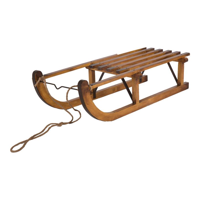 Holzschlitten, 80x36,5x20cm, mit Tau