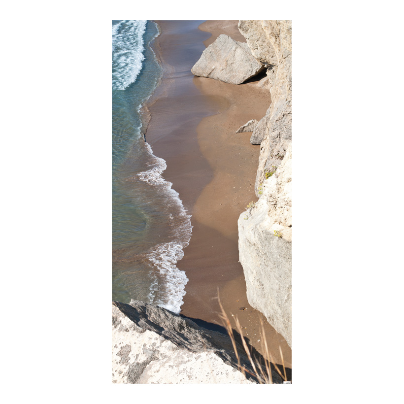 "# Motivdruck ""Badebucht"", 180x90cm Papier"