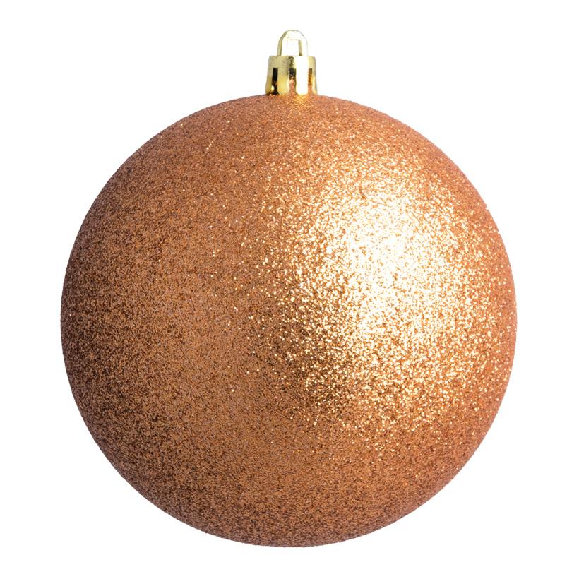 Weihnachtskugel, bronze glitter, Ø 6cm 12 St./Blister