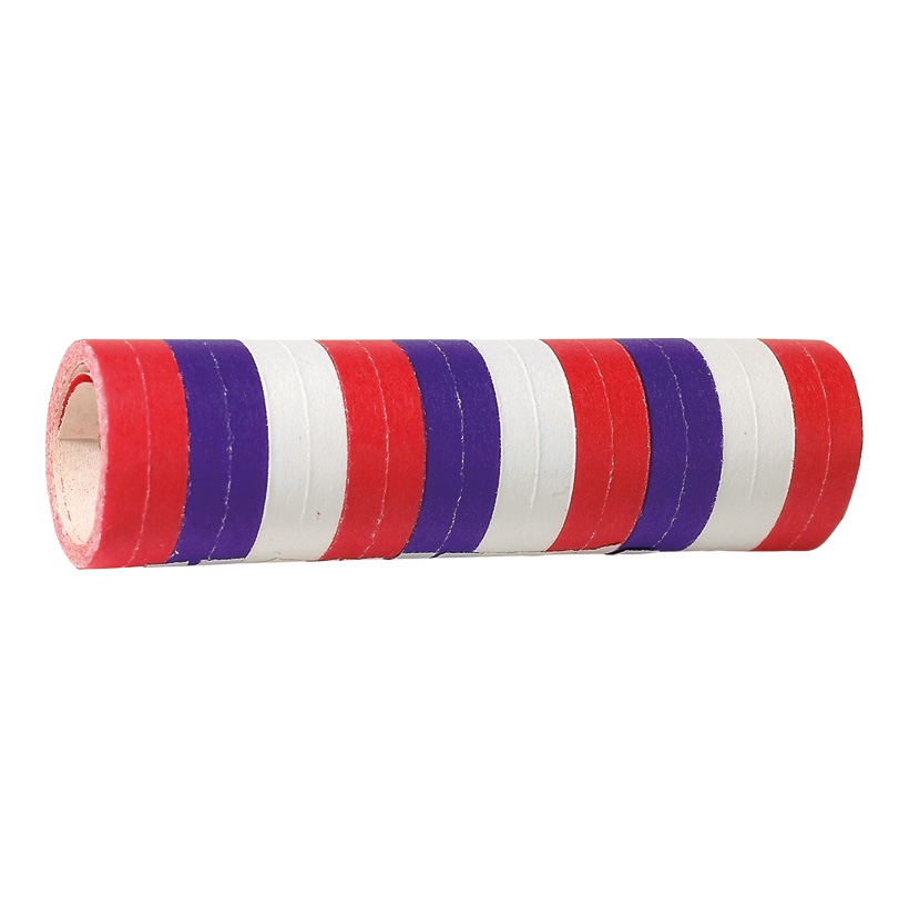 """# Luftschlangen """"Frankreich"""" 4m, 7mm breit, blau/weiß/rot, aus Papier"""