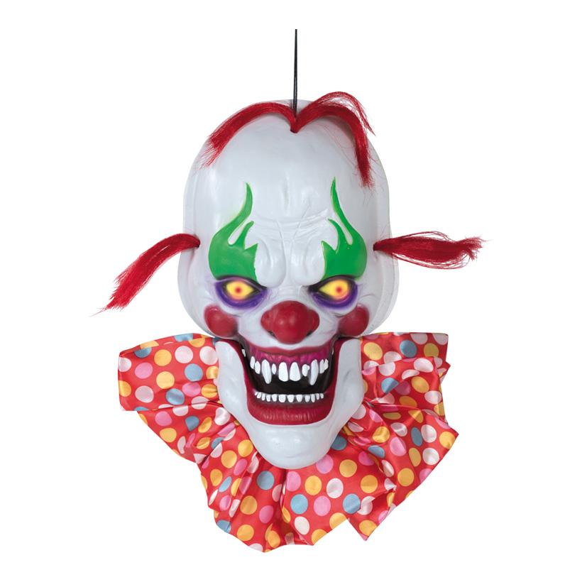 Clownskopf, sprechend, 50cm mit Licht- und Soundeffekten