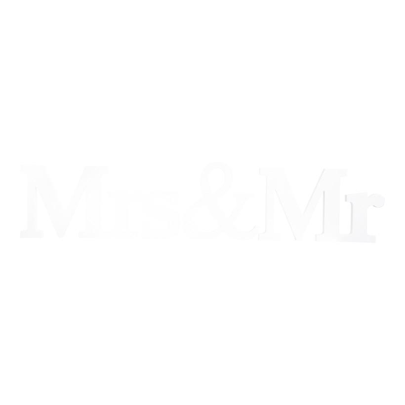 """Schriftzug  """"Mrs & Mr"""", 75x15cm, aus MDF-Holz"""