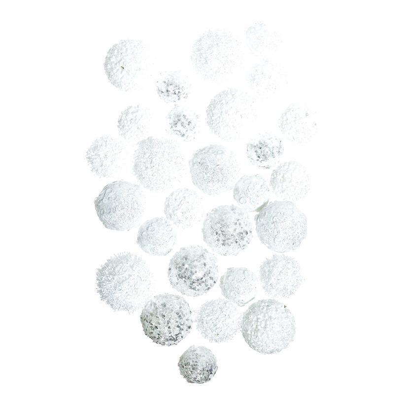 Mini-Schneebälle, Ø 3-4cm 28-fach, aus Styropor