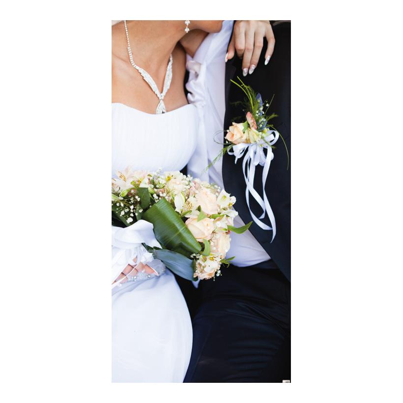 "# Motivdruck ""Brautpaar"", 180x90cm Stoff"