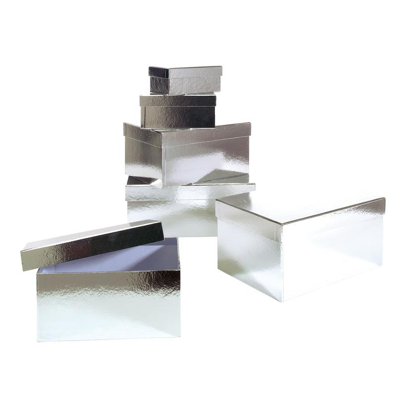 Geschenk-Kartonagensatz, 13,5x8,5x5,5cm - 26x18x13cm 6tlg., rechteckig
