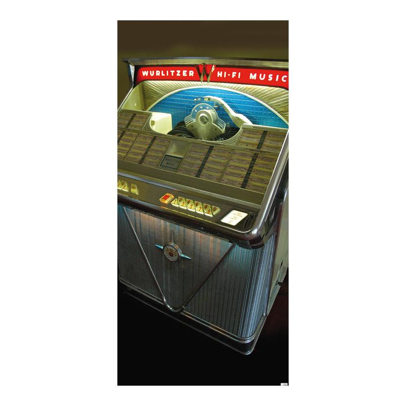 "# Motivdruck  ""Jukebox"", 180x90cm Papier"