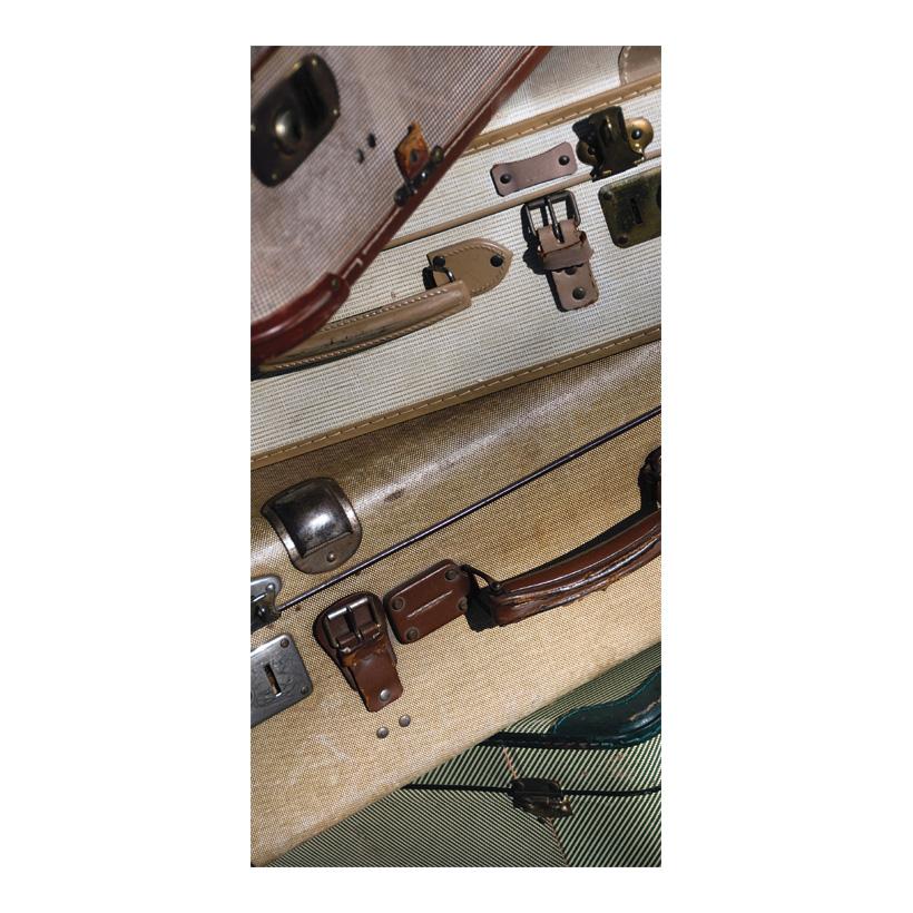 "# Motivdruck ""Alte Koffer"", 180x90cm Stoff"