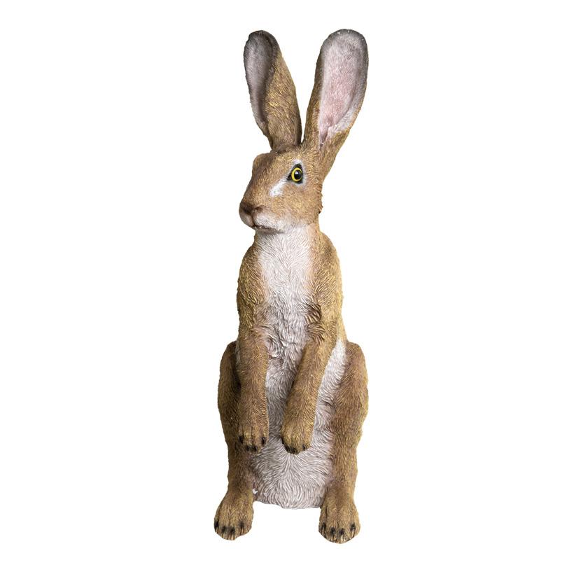 # Hase, stehend, 52x16x24cm, Polyresin, für Innen und Außen