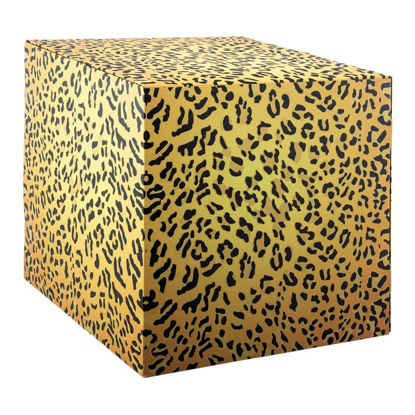 """# Motivwürfel  """"  Gepard """", 32x32x32cm Pappkreuz innen zur Stabilisierung, hohe Druck- und Materialqualität, 450g/m≤, aus Pappe, faltbar"""