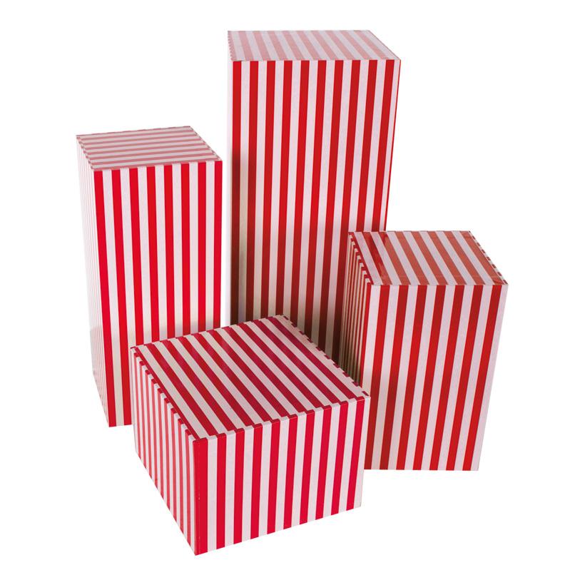 Boxen, gestreift, 45x20x20cm, 35x15x15cm, 25x15x15cm, 15x20x20cm, 4Stck./Satz, nestend, Pappe