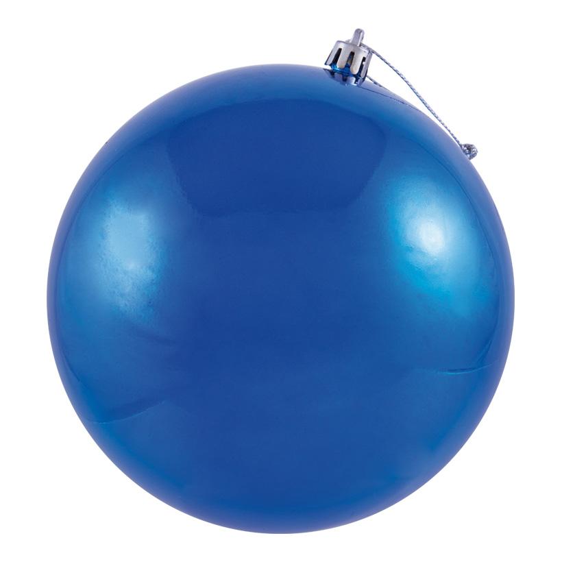 Weihnachtskugel, blau Ø 8cm, 6Stck./Blister, nahtlos, glänzend