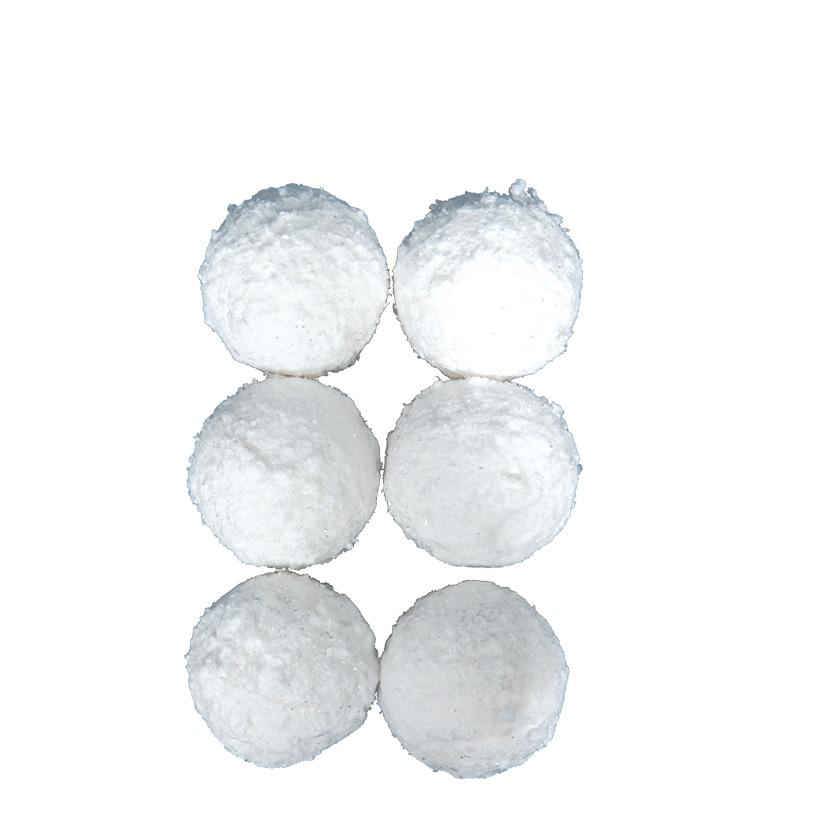 Schneeball, x6 Ø 8cm, Styropor