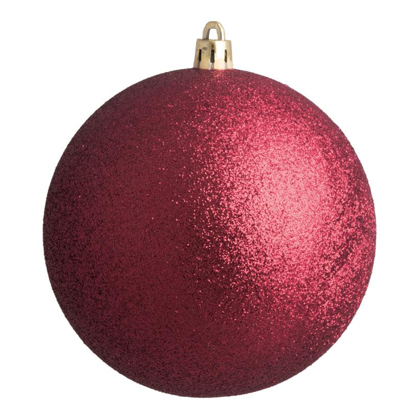 Weihnachtskugel, bordeaux, Ø 10cm