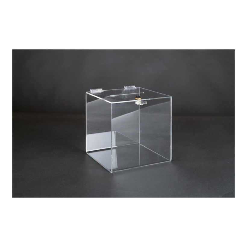# Acryl-Losbox, 20x20x20cm mit abschließbarer Klappe