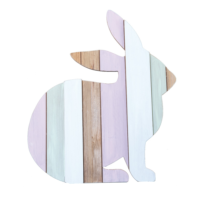 Osterhase, 44x38cm Holzständer rückseitig, aus Holz