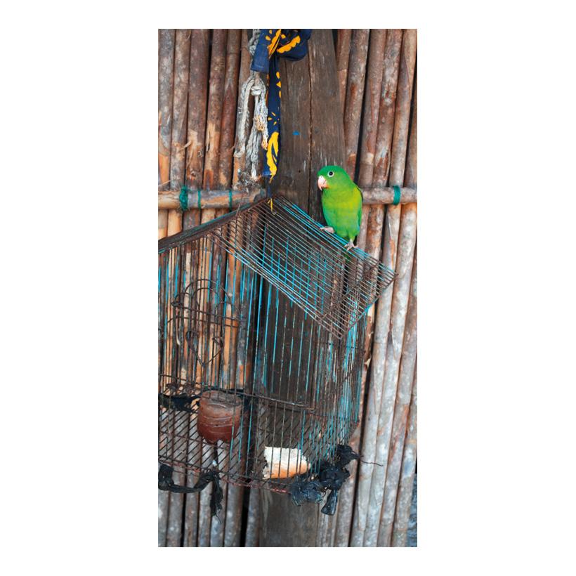 """# Motivdruck  """"Papagei"""", 180x90cm Stoff"""