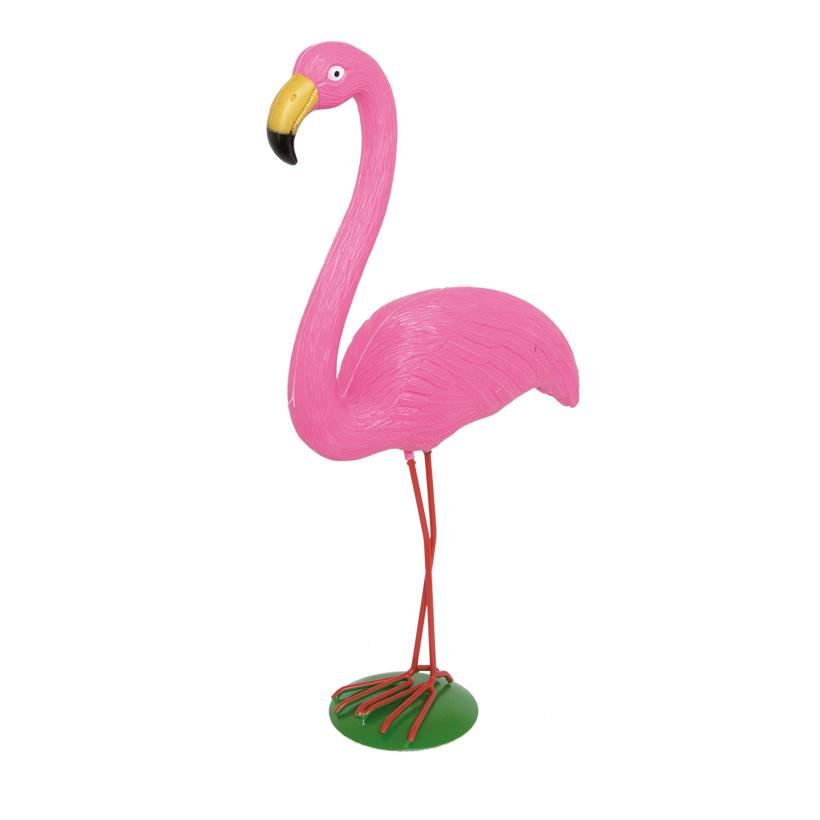 Flamingo 54x26cm, Kopf oben, Kunststoff