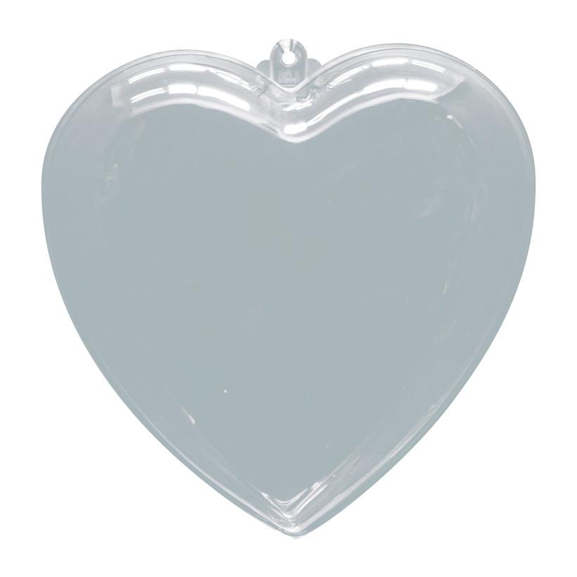 # Herz, Ø 6cm, Kunststoff, 2 Hälften, zum Befüllen