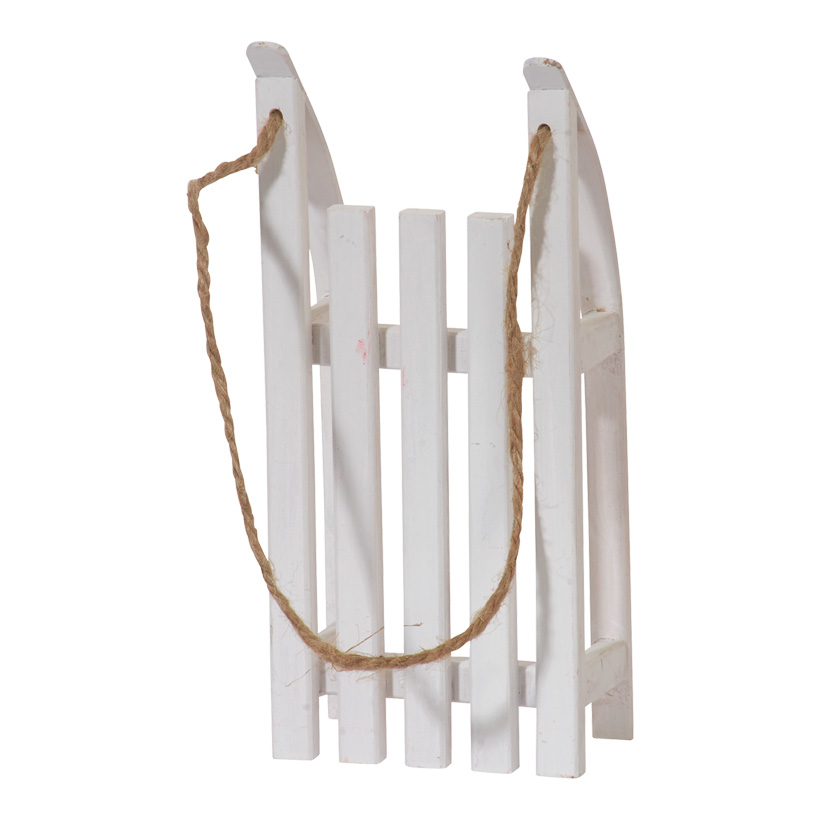 Mini-Schlitten, 20x9x5cm, Holz, mit Ziehschnur