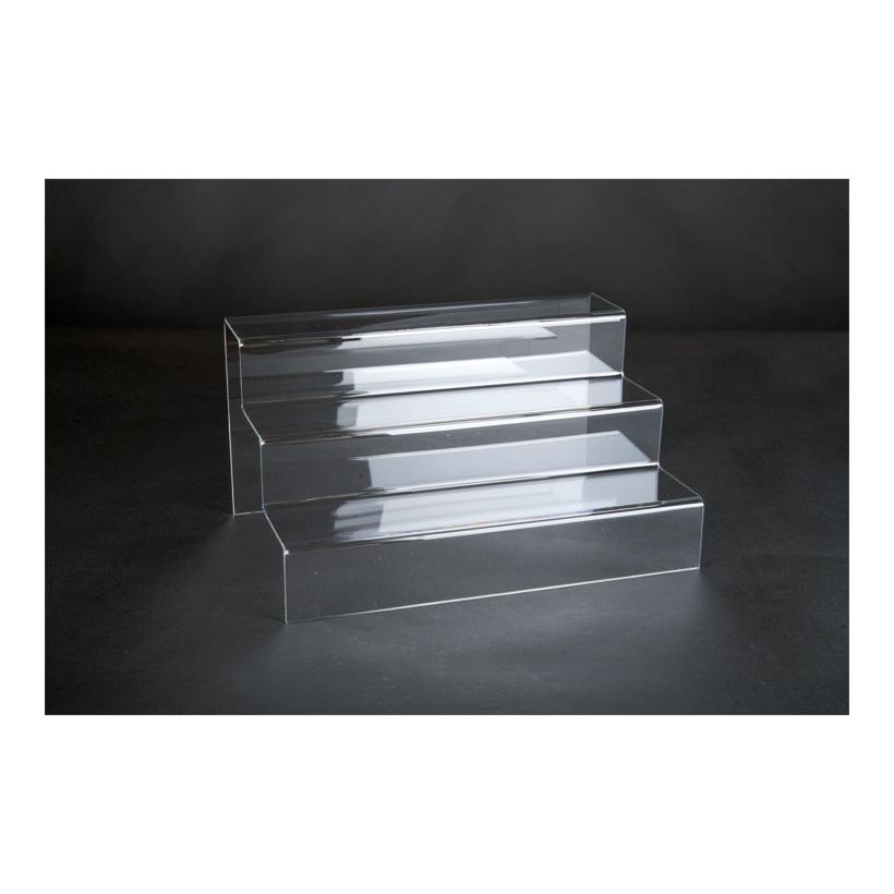 # Acryl-Dekotreppe, 21x30x16cm 3-fach, als Warenpräsenter