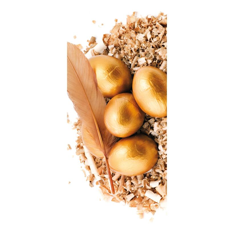 """# Motivdruck """"Goldene Eier"""", 180x90cm Papier"""
