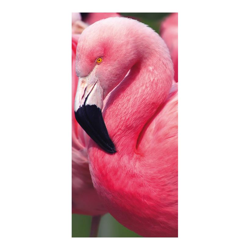 "# Motivdruck  ""Flamingo"", 180x90cm Stoff"