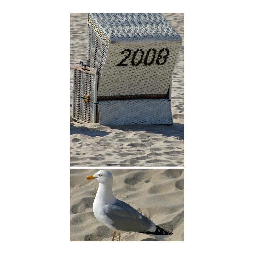 """# Motivdruck """"Am Strand"""", 180x90cm Stoff"""