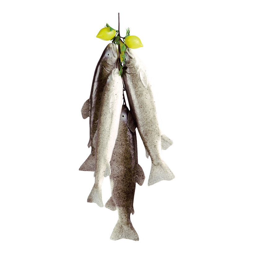 # Fischhänger mit Zitrone 55 cm lang, Kunststoff