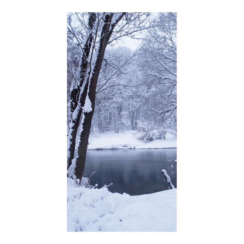 "# Motivdruck  ""Winter im Park"", 180x90cm Stoff"